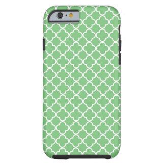 Green Quatrefoil Pattern Tough iPhone 6 Case