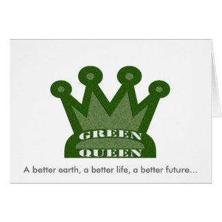 Green Queen Card