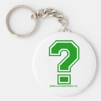 Green Question Mark Key Ring