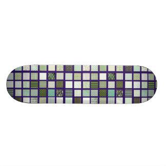 Green quilt mosaic pattern skate decks