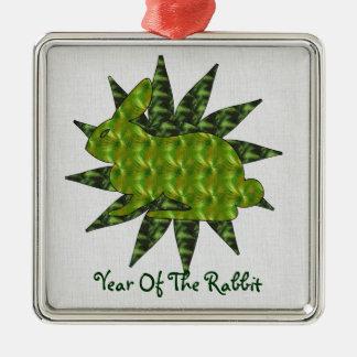 Green Rabbit Christmas Ornament