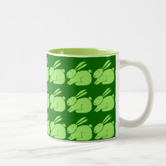 Green Rabbit Two-Tone Coffee Mug
