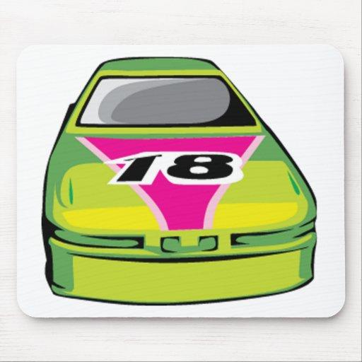 green race car mousepads