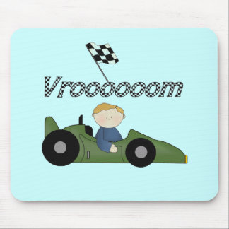Green Race Car Vroom Tshirts and Gifts Mouse Pad