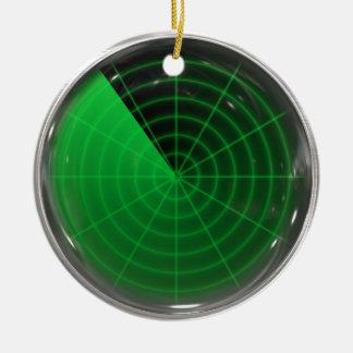 green radar pattern ceramic ornament