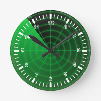 green radar pattern round clock