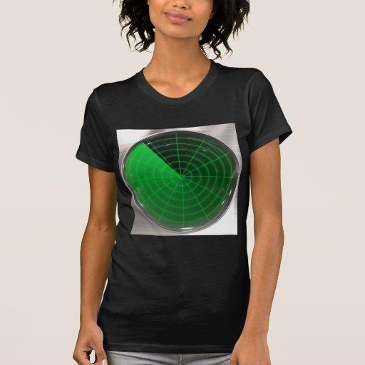 green radar pattern tee shirt