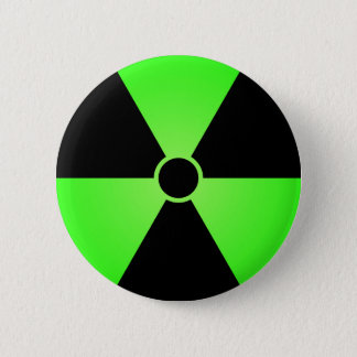 Green Radiation Symbol 6 Cm Round Badge