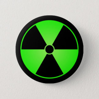 Green Radiation Symbol Button