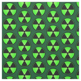 Green Radiation Symbol Fabric
