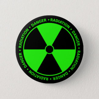 Green Radiation Warning Button