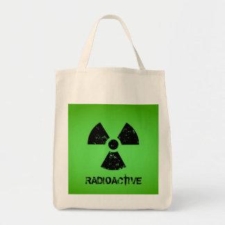 Green Radioactive Symbol Grocery Tote Bag