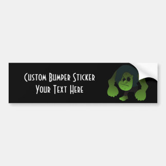 GREEN RAGE MAN CAR BUMPER STICKER