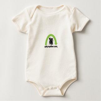 green rainbow baby bodysuit
