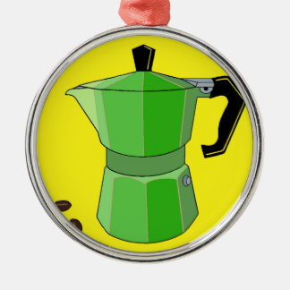 Green Rainbow Espresso Metal Ornament