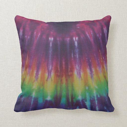 Green Rainbow Tie Dye American MoJo Pillow