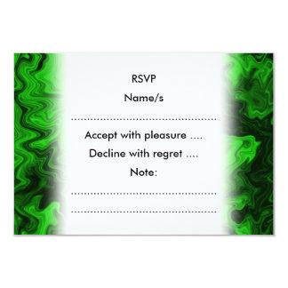 Green Random Abstract. 9 Cm X 13 Cm Invitation Card