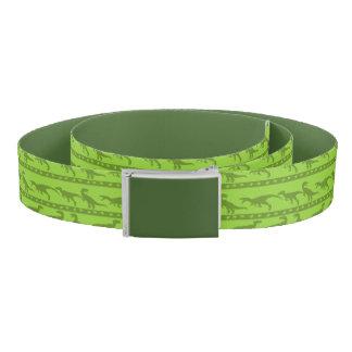 Green Raptor Pattern Belt