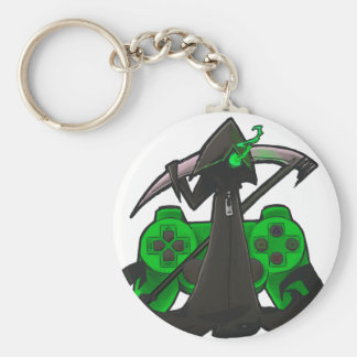 Green Reaper Basic Round Button Key Ring