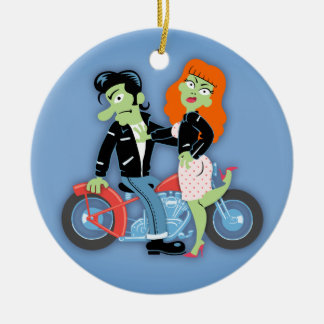 Green Rebel Bikers Christmas Tree Ornament