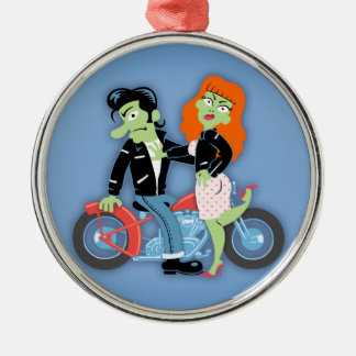 Green Rebel Bikers Ornaments