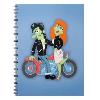 Green Rebel Bikers Spiral Notebook