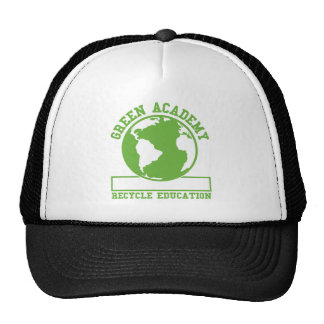 Green Recycle Academy Hats