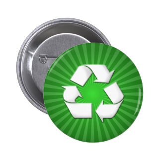 Green Recycle Button 001
