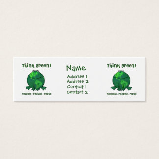 Green Recycle Frog Skinny Profile Card