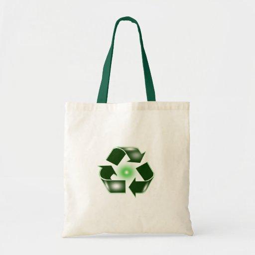 Green Recycle Logo Bag