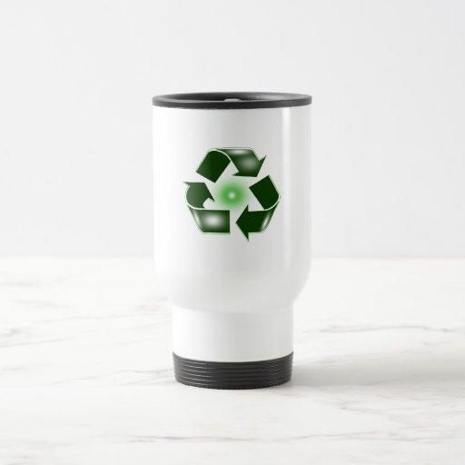 Green Recycle Logo Commuter Mug