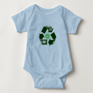 Green Recycle Logo Infant Creeper