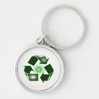 Green Recycle logo Keychain