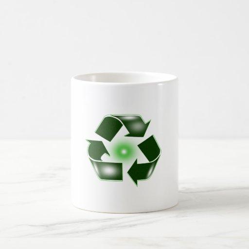 Green Recycle Logo Mug