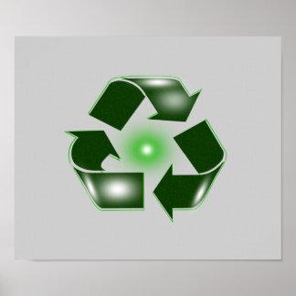 Green Recycle Logo Portfolio Size Poster  Print