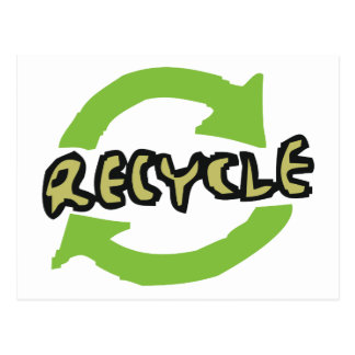 Green Recycle Postcard