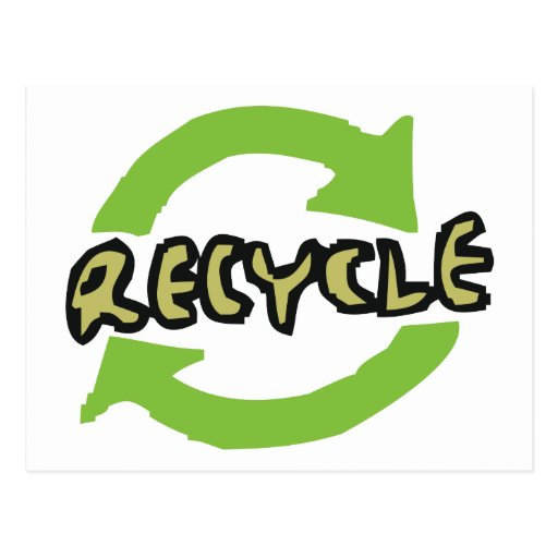 Green Recycle Post Cards