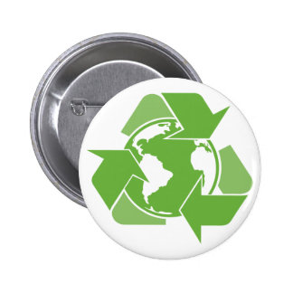 Green Recycle Recycling Buttons