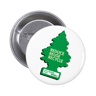 Green Recycle Reduce Reuse Pinback Button