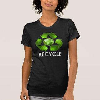 Green recycle shirt on dark