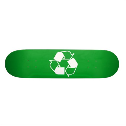 Green Recycle Skate Board Deck