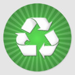 Green Recycle Stickers 001
