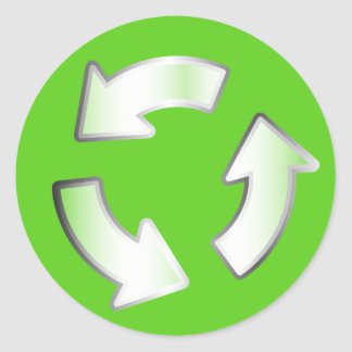 Green Recycling 3 Arrows Cycle Circle sticker