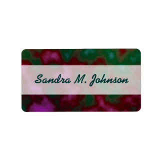 green red abstract address label