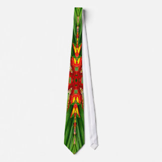 Green Red Abstract Tie