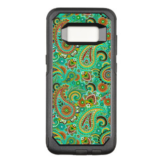 Green Red And Yellow Paisley OtterBox Commuter Samsung Galaxy S8 Case