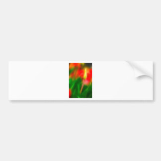 Green, Red and Yellow Tulip Glow Bumper Sticker
