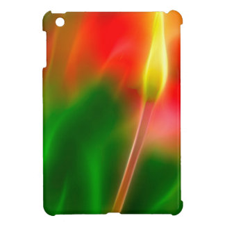 Green, Red and Yellow Tulip Glow Case For The iPad Mini
