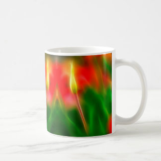 Green, Red and Yellow Tulip Glow Coffee Mug