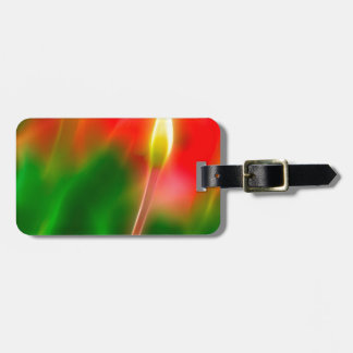 Green, Red and Yellow Tulip Glow Luggage Tag